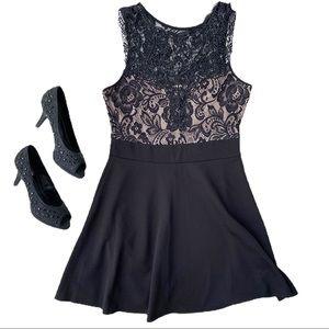 Trixxi • Little Black Lace Cocktail Dress LBD